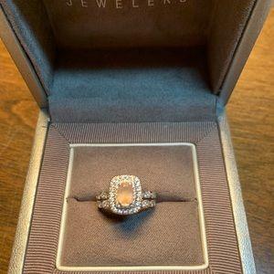 Neil lane 14k diamond ring 💍 peach morganite